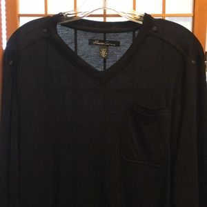 Kenneth Cole New York L/S Vneck Ribbed Top